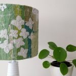 7. Embroidered Floral Lamp Shade In Dual Colour Tone