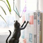 Black Cat Steel Book End