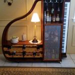 Piano Bar Storage With Cabinet And Shelves