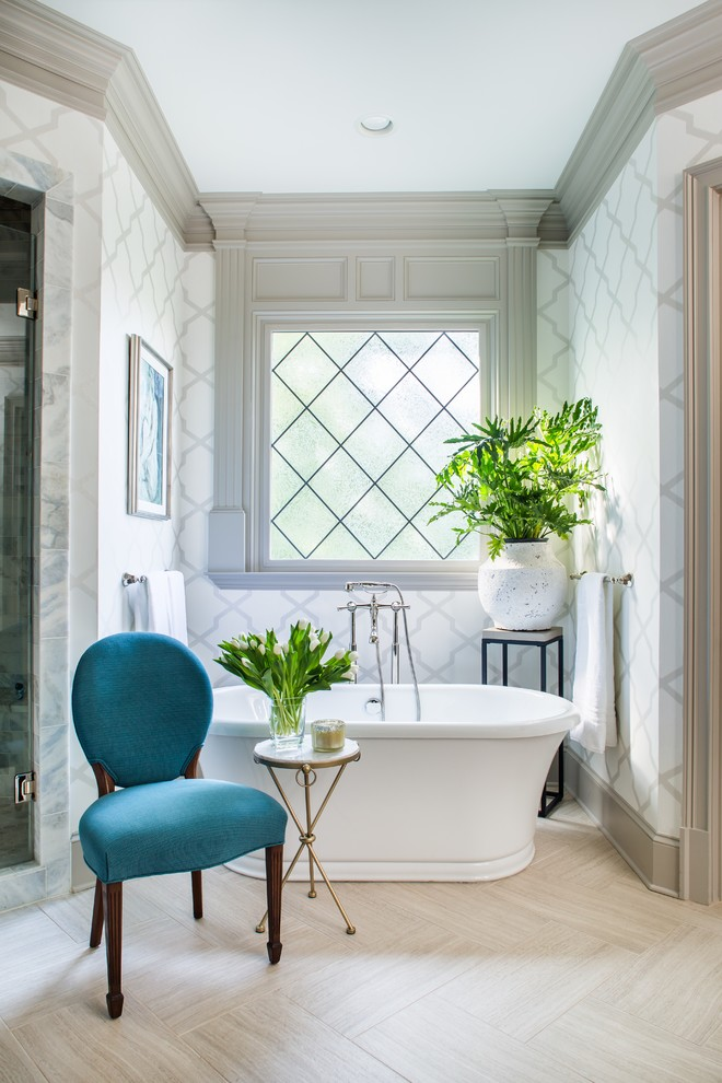 side table decorations ideas window wallpaper freestanding bathtub blue chair small round side table tub filler towel holders glass door