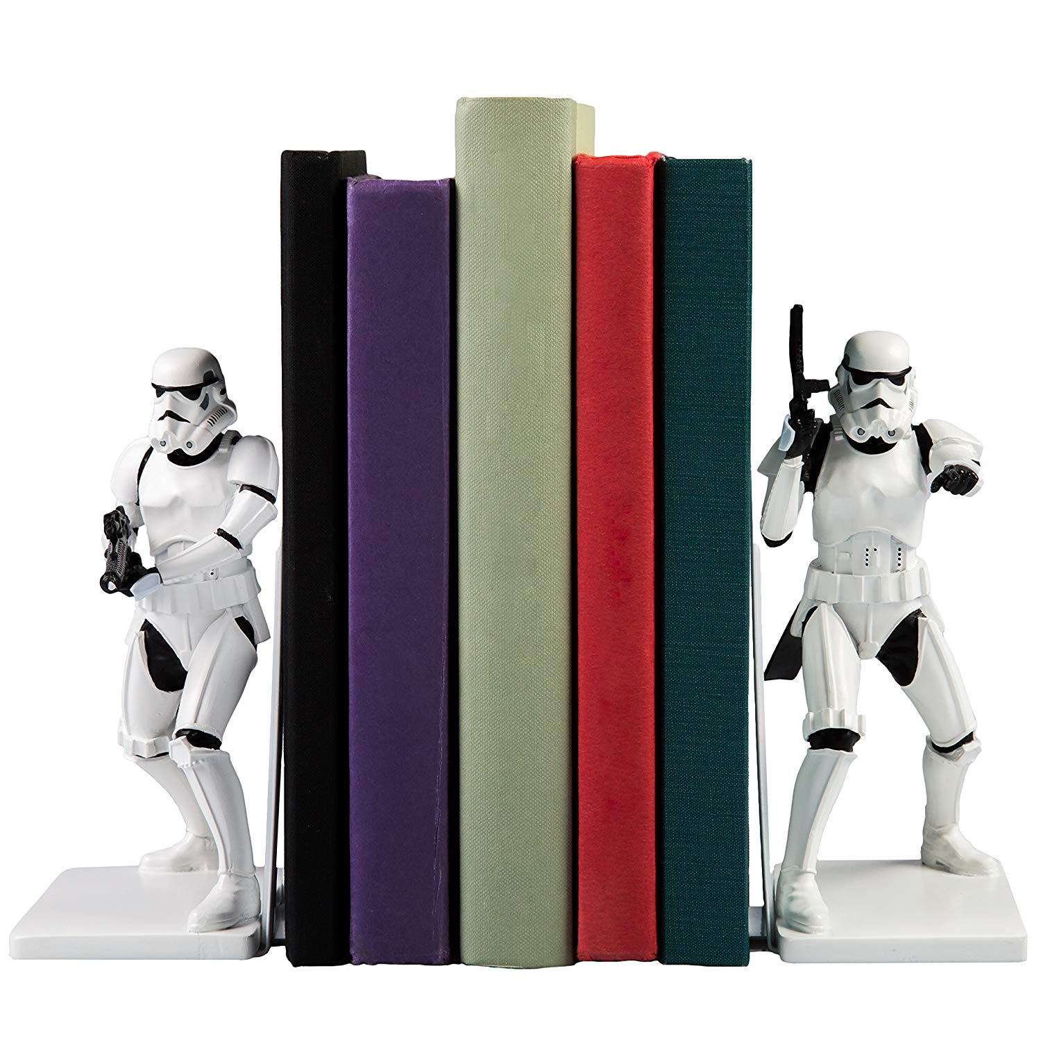 white stormtrooper book ends