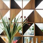 Wooden Shelves For Wall Partition With Triangle Appliance