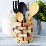 Bottle Corks As Stands, Wooden Table, White Mug
