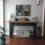 Rustic Console Table With Drawers Mirror Salvage Globe Rustic Trunk Glass Windows Indoor Plant Chrome Table Decoration Wall Sconce Gray Wall