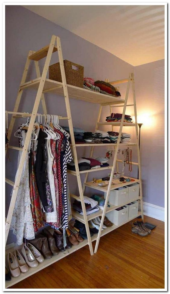 wooden triangle frame for clothes, shelves, cabinet
