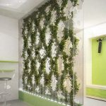 Planter Partition With Glass With Holes