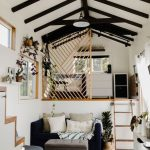 Tiny Houses, Kitchen, Wooden Floor, Black Sofa, Bedroom On Upper Level, Wooden Fence