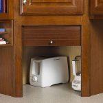 Wooden Cabinet, Grey Kitchen Top, Wooden Upper Cabinet