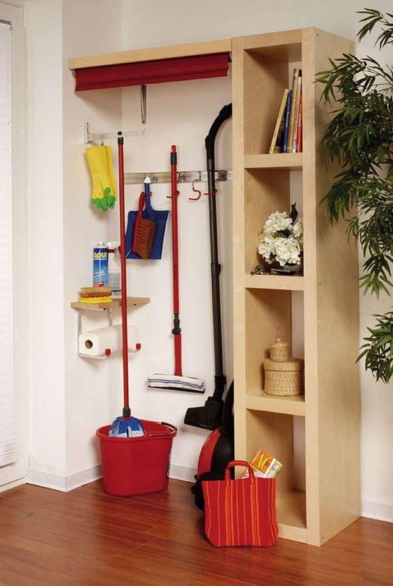 wooden shelves, white wall, hook,