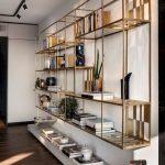 Golden Floating Shelves With Whte Floating Shelves Under