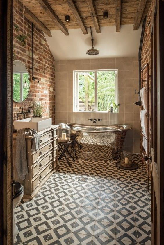 Putting Rustic And Natural Material To The Bathroom Decohoms