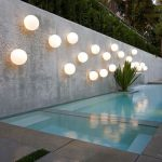 White Ball Wall Fixture, Concrete Floor, Concrete Wall, Plan Along The Wall
