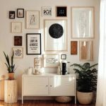 White Stainless Steel Cabinet, Wooden Floor, White Wall, Pictures, White Ceiling
