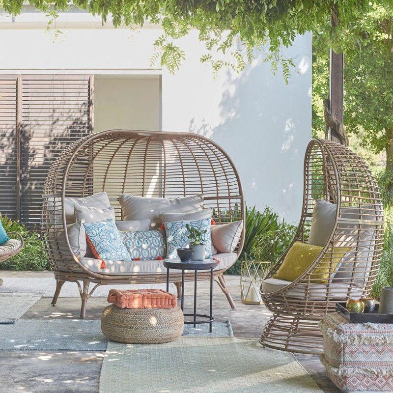 patio, rattan sofa, rattan chair, rattan ottoman