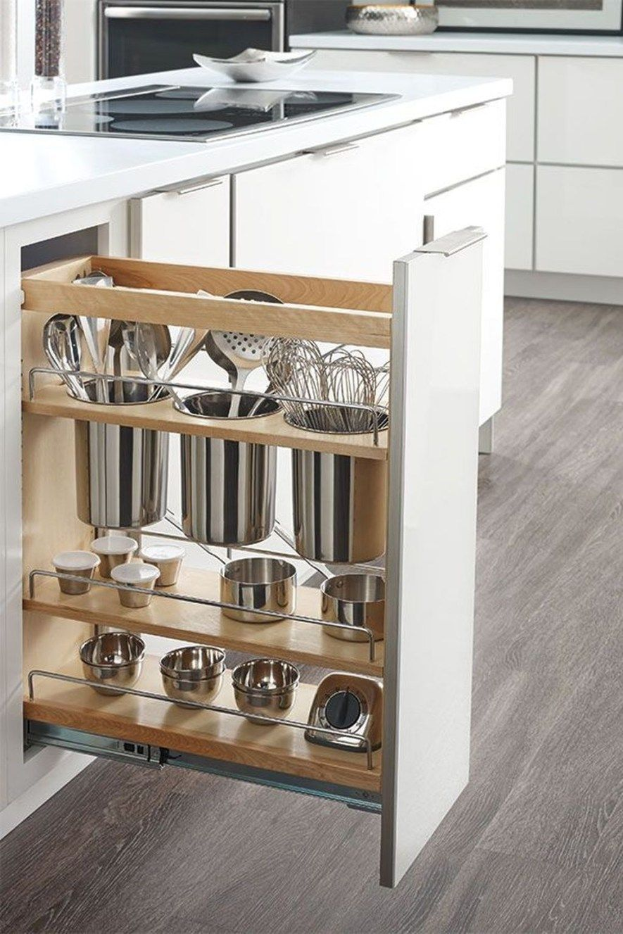 white cabinet, vertical storage, shelves