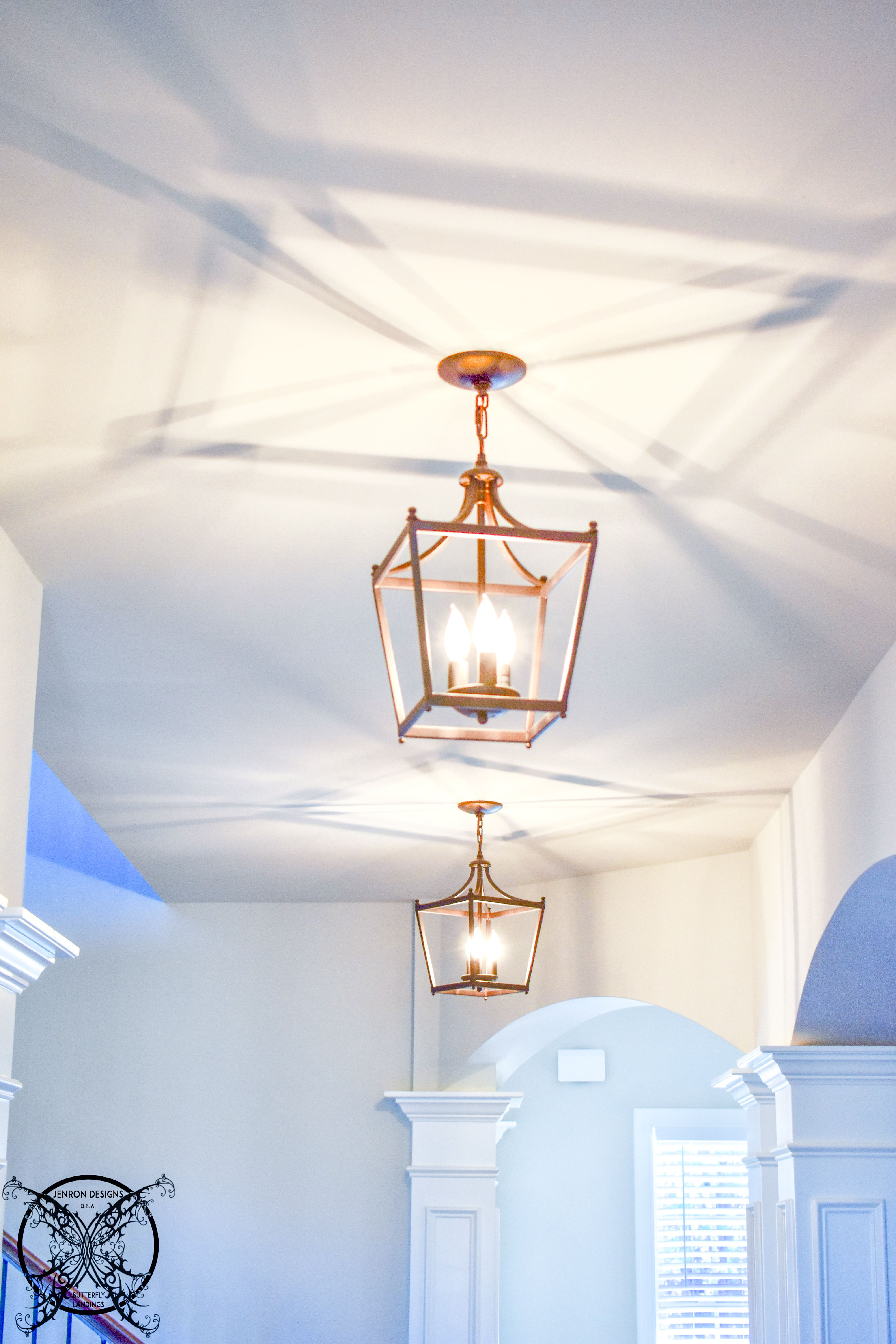 farmhouse chandelier, golden iron, fake candle lamps