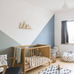 Nursery, Wooden Floor, White Wall, Wooden Crib, White Pendant, Black Chair