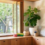 Playroom, Wooden Drawers On The Floor, Large Glass Window