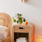 Rattan Side Table With Drawers, Rattan Lamps