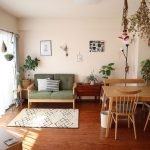 Wooden Sofa With Light Green Cushion, Wooden Floor, Wooden Dining Set, Wooden Cabinet, Wooden Side Table
