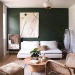 Living Room, Wooden Floor, White Sofa, Wooden Round Coffee Table, Rattan Chair, Rattan Ottoman, White Pendant