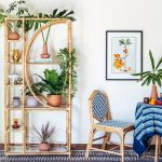 Rattan Shelves With Curve On The Side