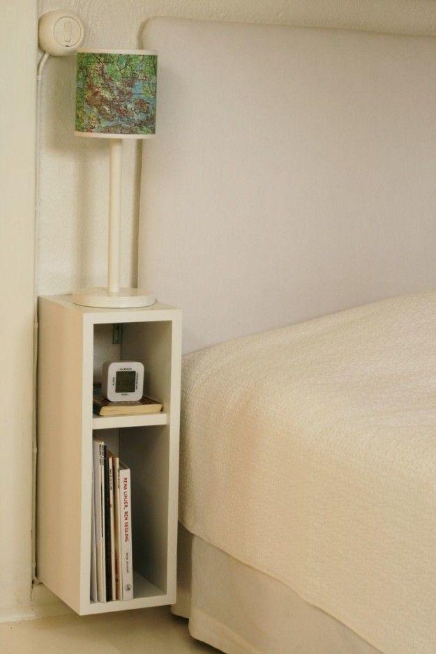 white rectangular floating shelves