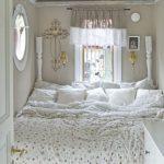 Bed Nook, Curtain, Round Window, White Cabinet