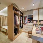 Bedroom, Wooden Floor, White Wooden Cabinet, Wooden Floating Table,