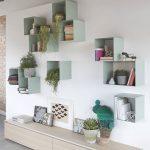 Decorative Shelves, Light Colored Boxes