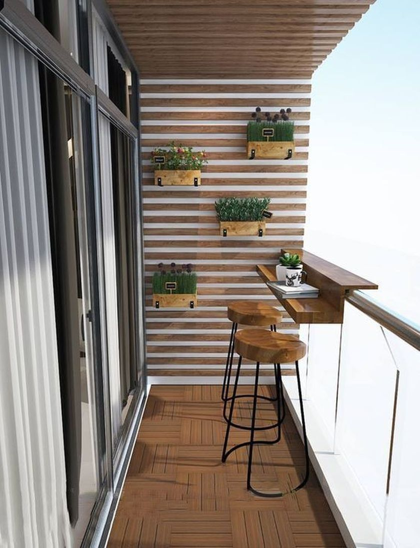vertical wooden garden, wooden plant pots