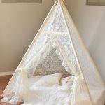 White Tent, Wooden Floor, White Wall, White Cushion